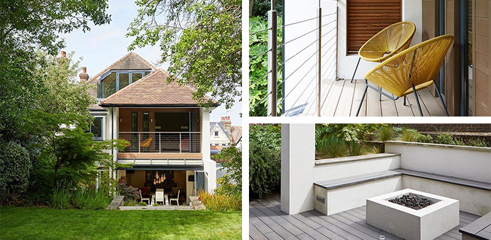 Hyperion Pioneer Decking in stone and Hyperion Pioneer Cladding in walnut by @alldonedesign
