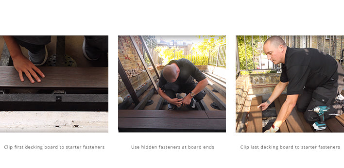 Laying decking on a substructure for balconies