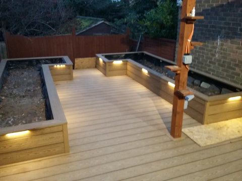 Composite Decking being used as a planter