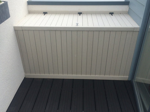 Composite Decking used as a Cupboard