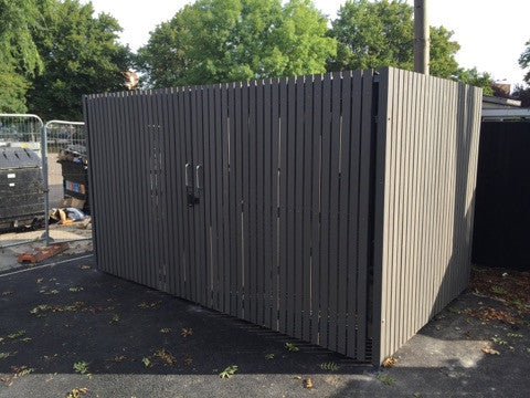 Composite Decking as a Bin Store