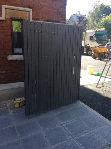 Composite Decking - Stone - Bin Store Gate