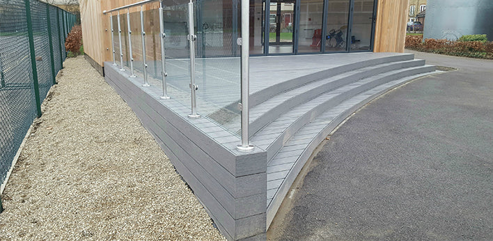 Wild Wood at Goat Lees Primary School in the Hyperion Slate Composite Decking Frontier Range