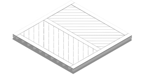 Decking Design - Chevron Pattern