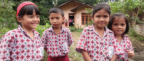School Children of a Local Aceh Community. Image Courtesy of Rainforest Trust