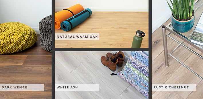 Sisu Laminate flooring available in 10 colours
