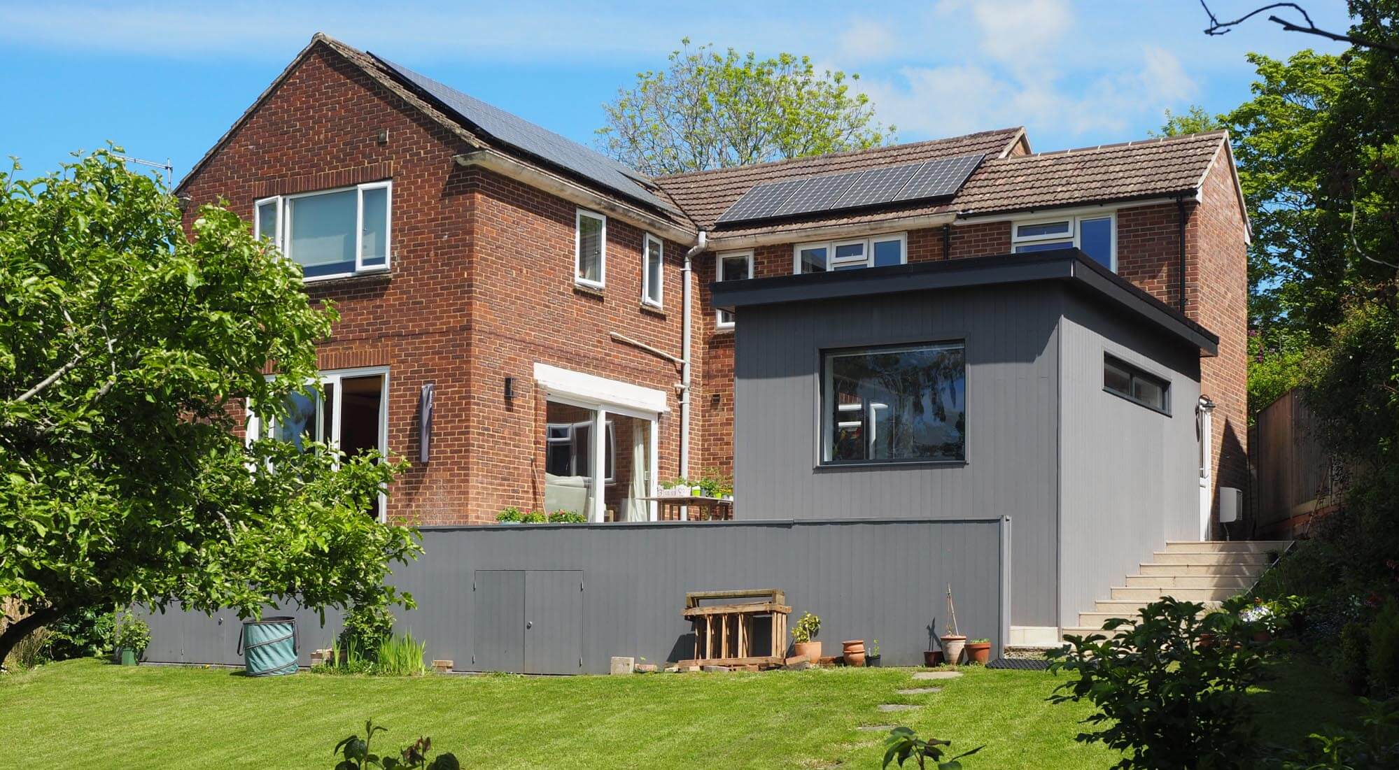 Studio extension Hyperion cladding in Stone grey
