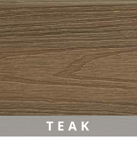 Composite Deck Board - Teak | HYPERION Decking