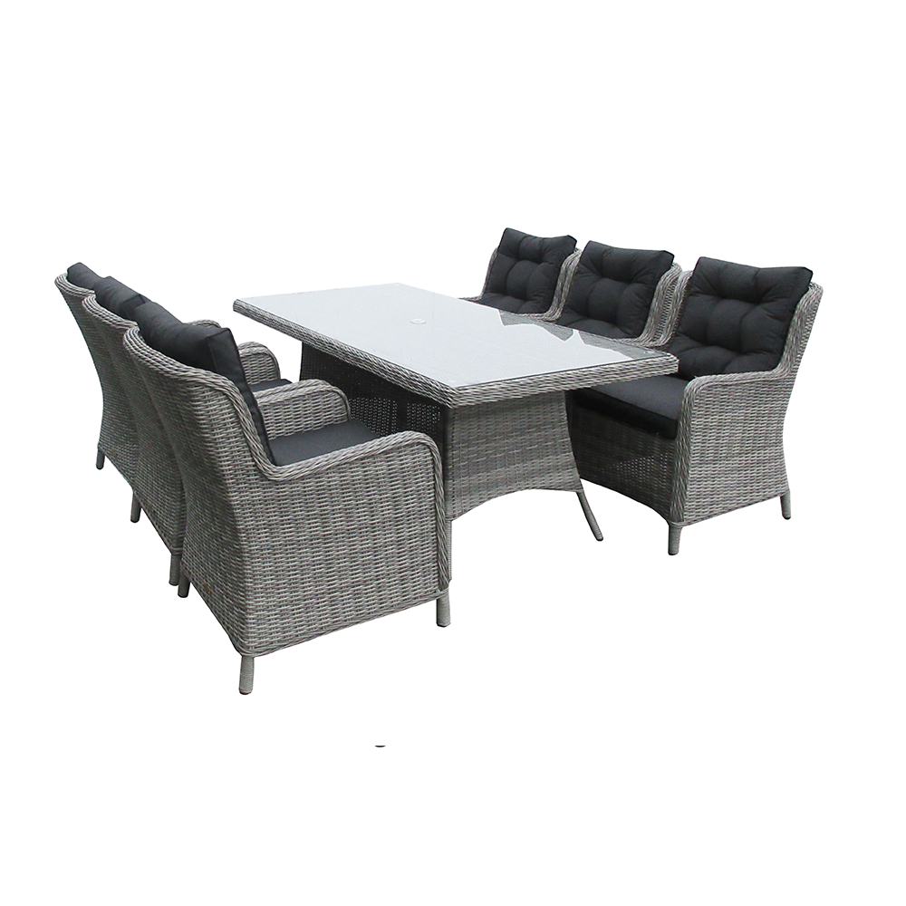 Astor Dark 6 Seat Dining Set