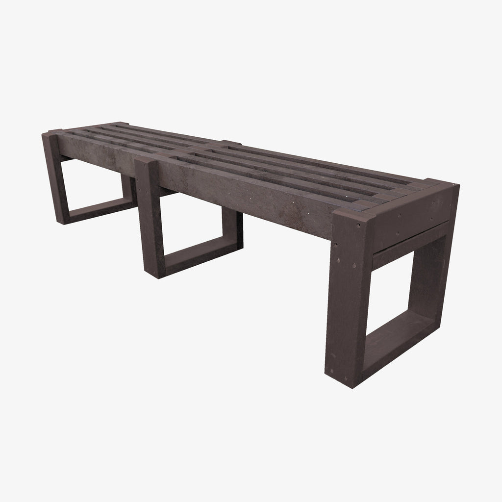 Manticore Lumber brown recycled plastic bench