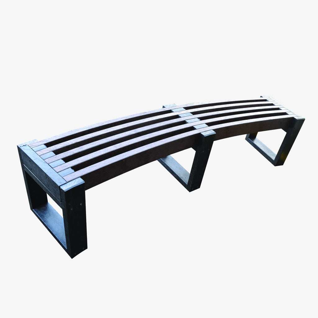 Windsor Curved Recycled Plastic Bench Manticore Lumber