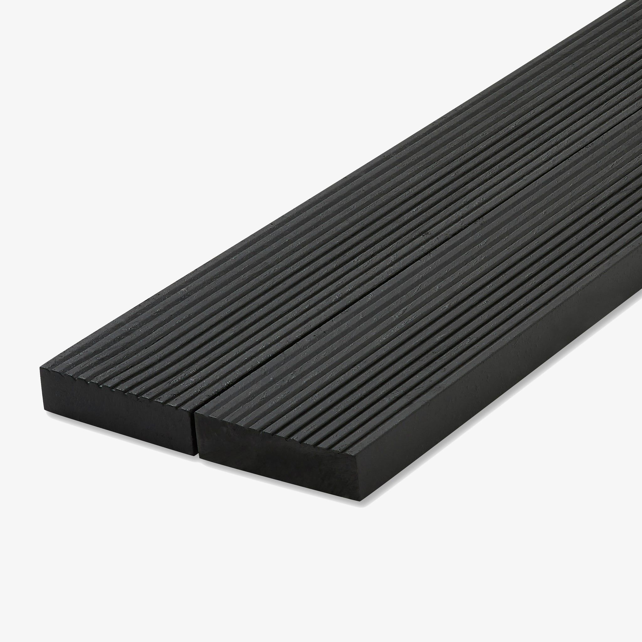 Recycled plastic lumber decking black