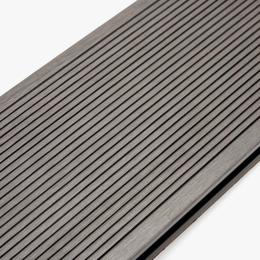 Composite decking board stone grey hyperion decking for 4m composite decking boards