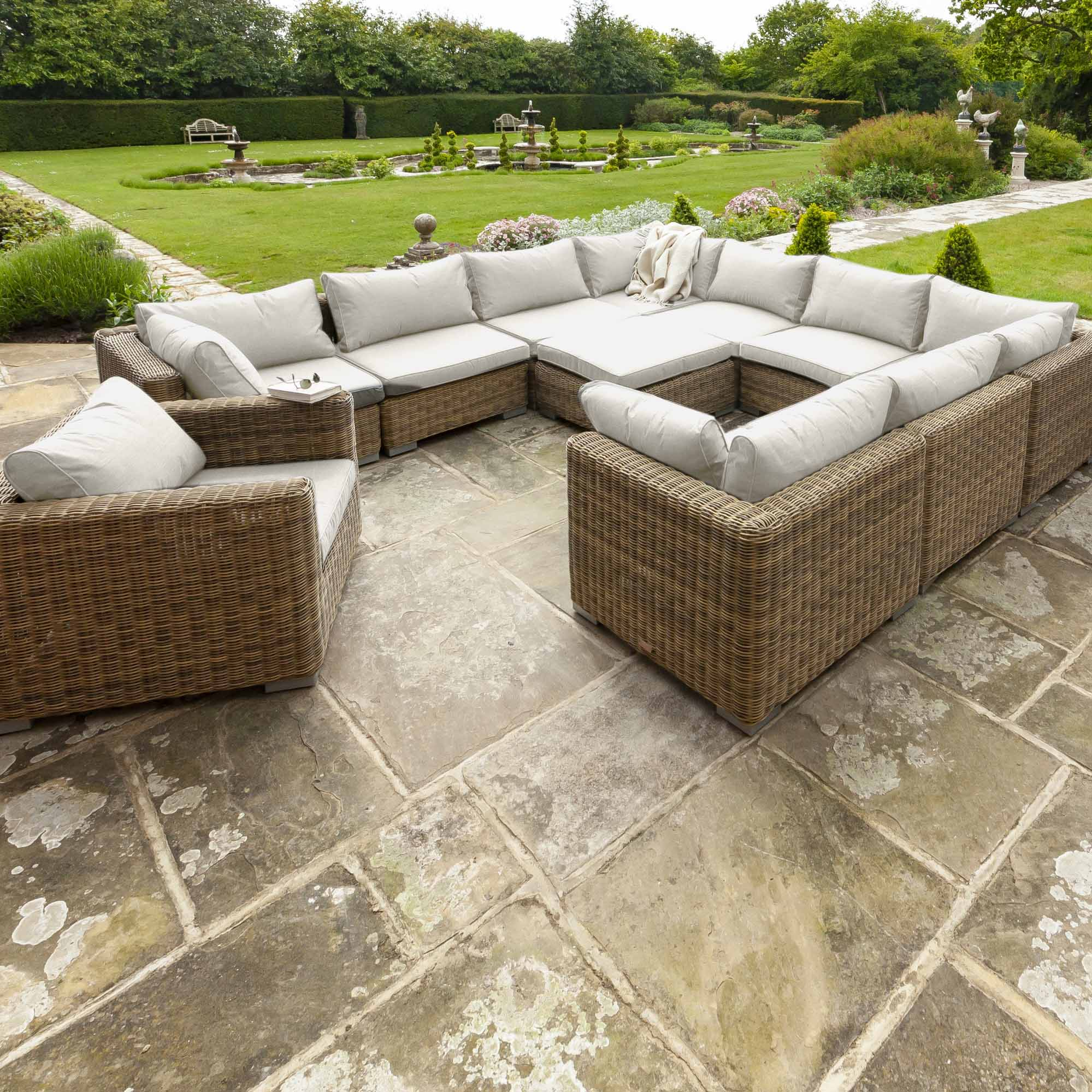 Livingstone  9 Seater Sofa Set With Armchair & Footstool