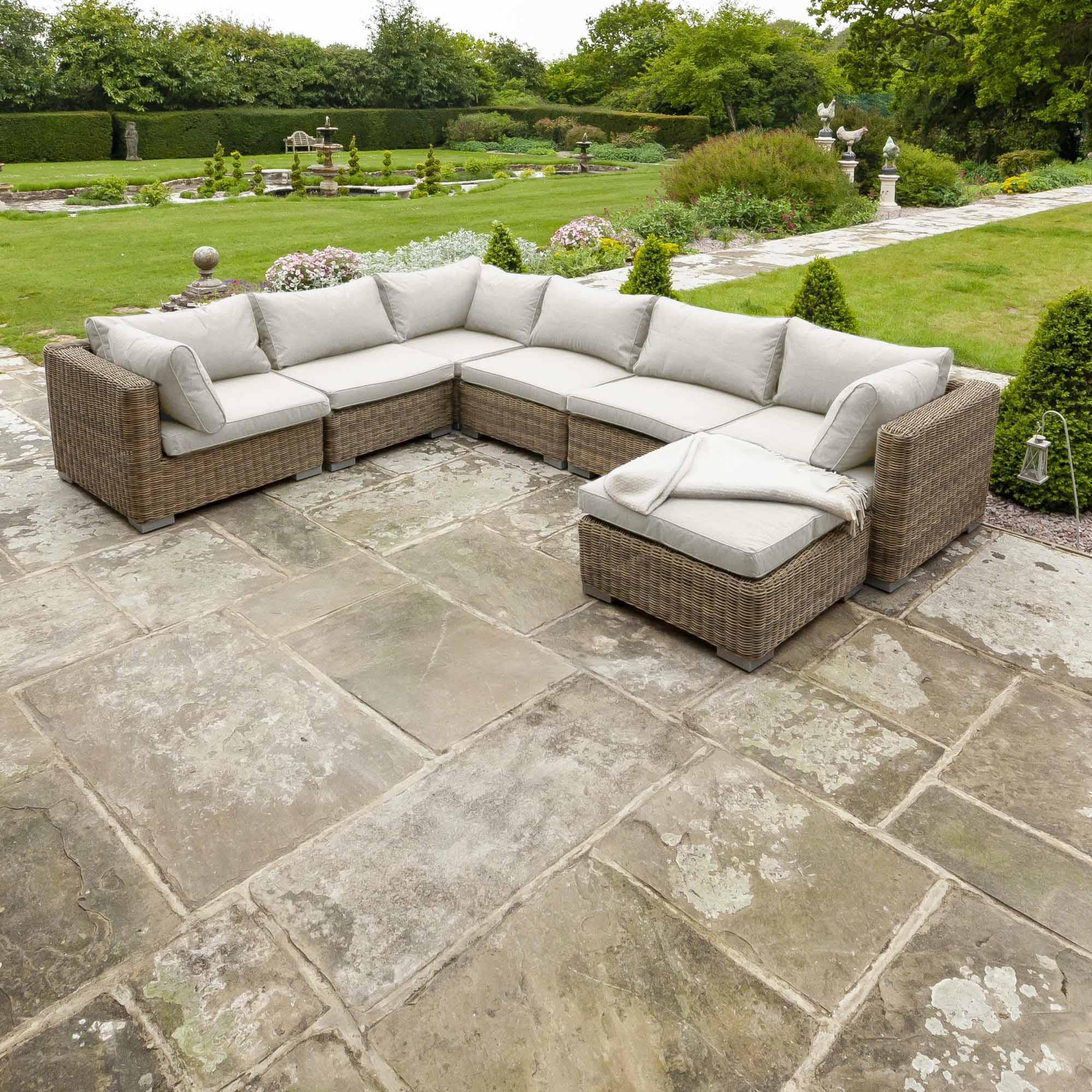 Livingstone 6 Seater Sofa Set With Footstool