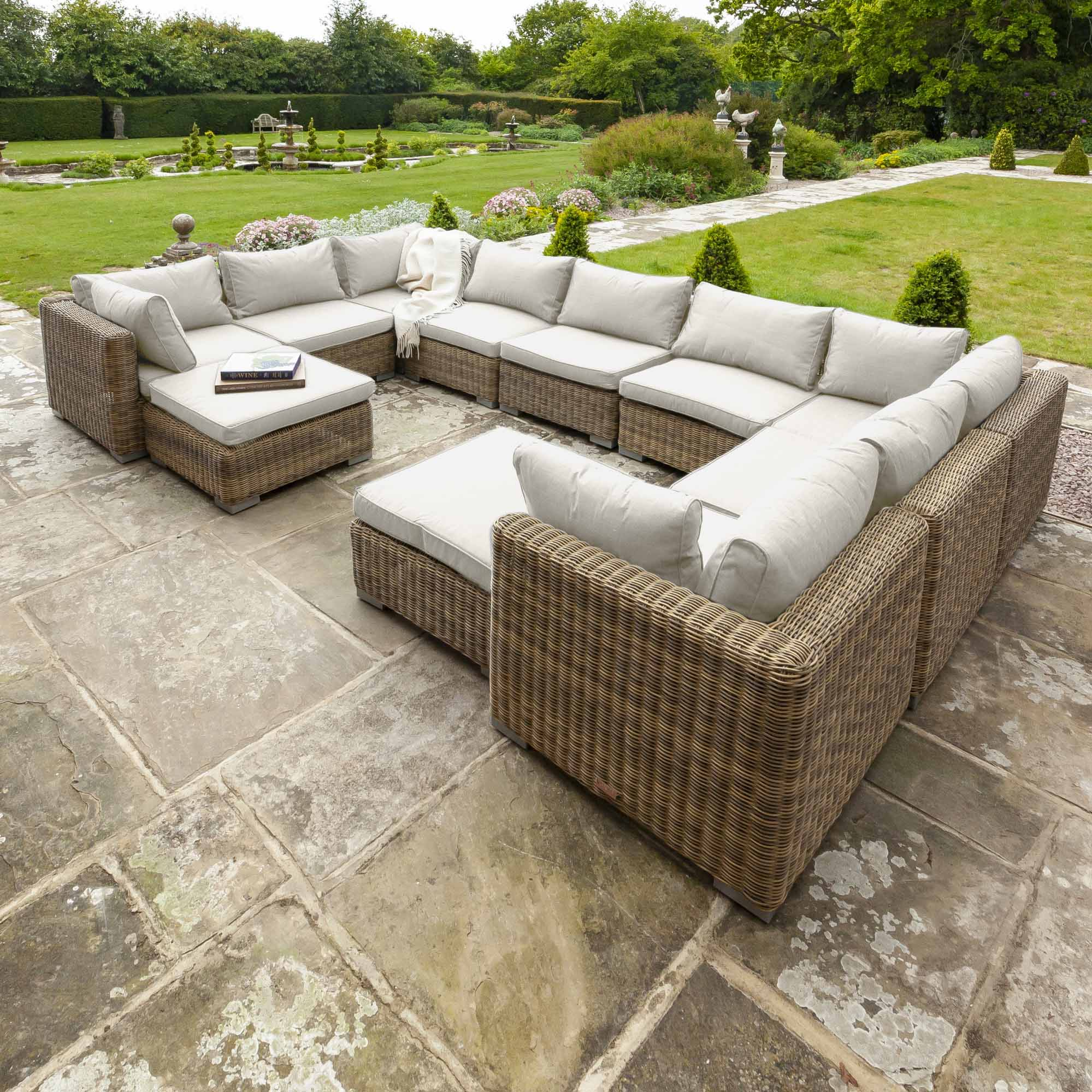 Livingstone  9 Seater Sofa Set With Double Footstool