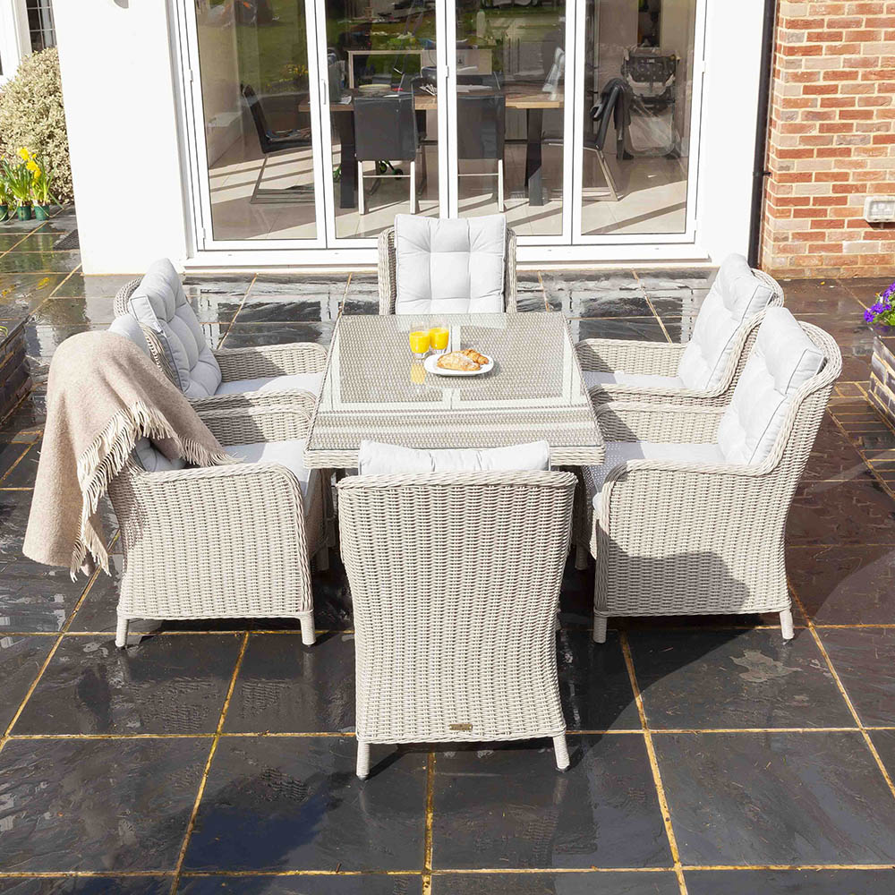 Astor 6 Seat Rattan Dining Set