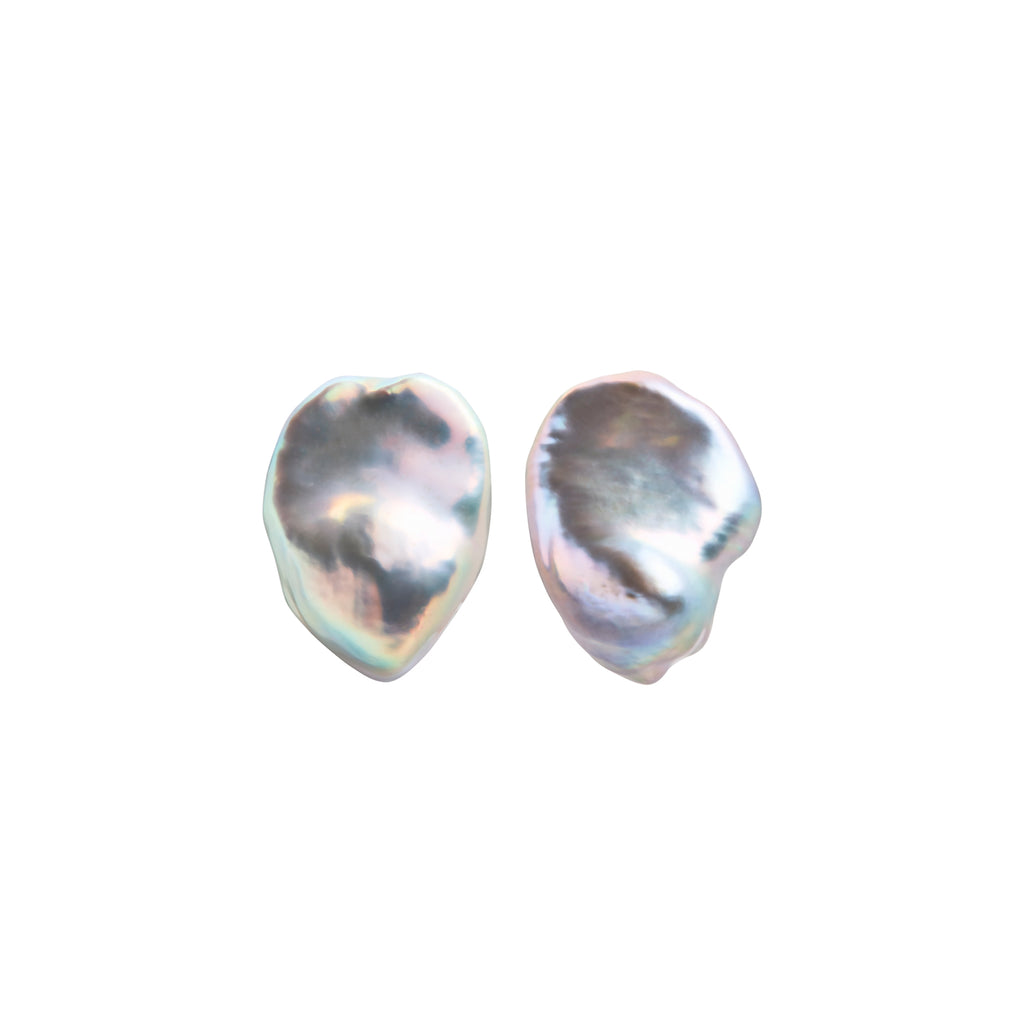 PLUVIA GREY PEARL EARRINGS