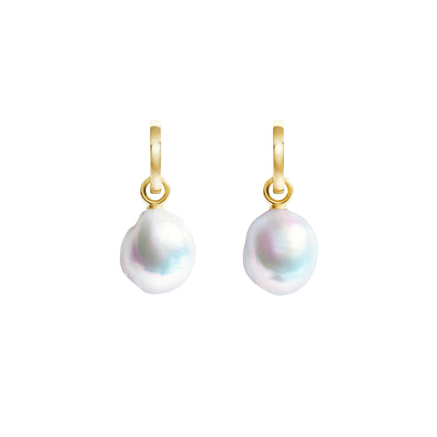 AURELIA BAROQUE PEARL HOOP EARRINGS