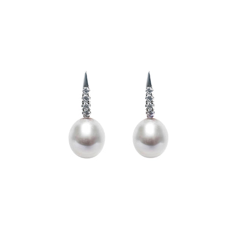 LUMINI DROP PEARL EARRINGS