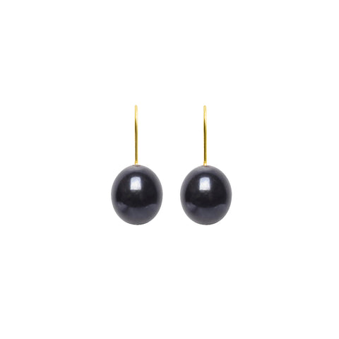 ARCHI DROP PEARL HOOK EARRINGS