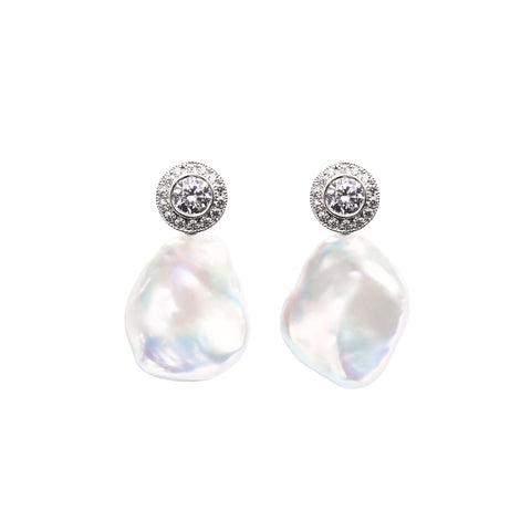 HALO BAROQUE PEARL EARRINGS