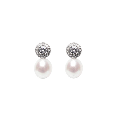 HALO PEARL EARRINGS