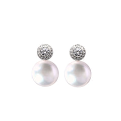 HALO XXL PEARL EARRINGS