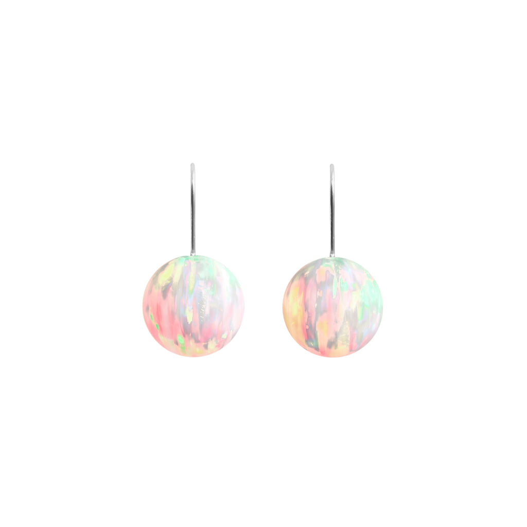 SUN OPAL HOOK EARRINGS | LARGE