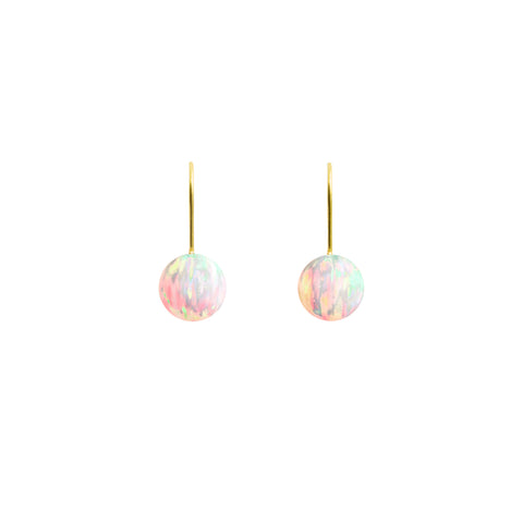 SUN OPAL HOOK EARRINGS | SMALL