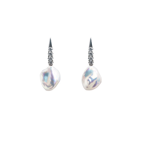 LUMINI KESHI PEARL EARRINGS