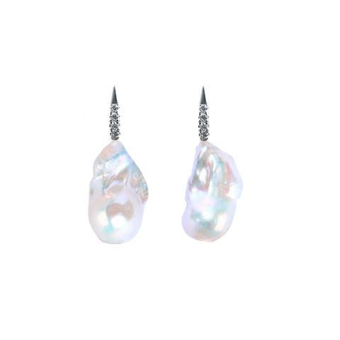 LUMINI XXL  MERMAID BAROQUE PEARL EARRINGS