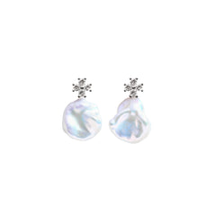 ZIRA MERMAID KESHI PEARL EARRINGS