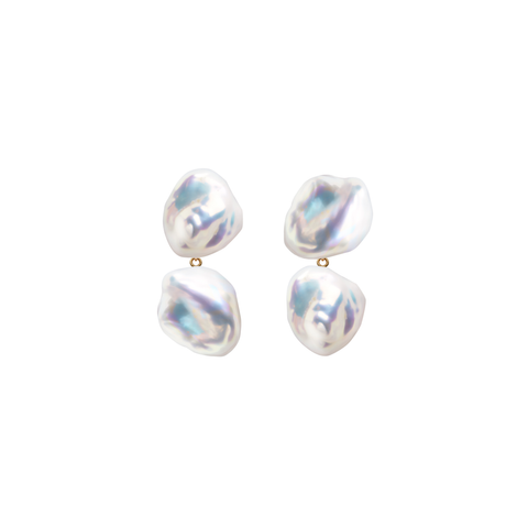 DUET MERMAID KESHI PEARL EARRINGS