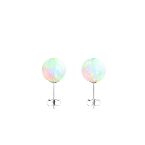 SEA OPAL STUD EARRINGS