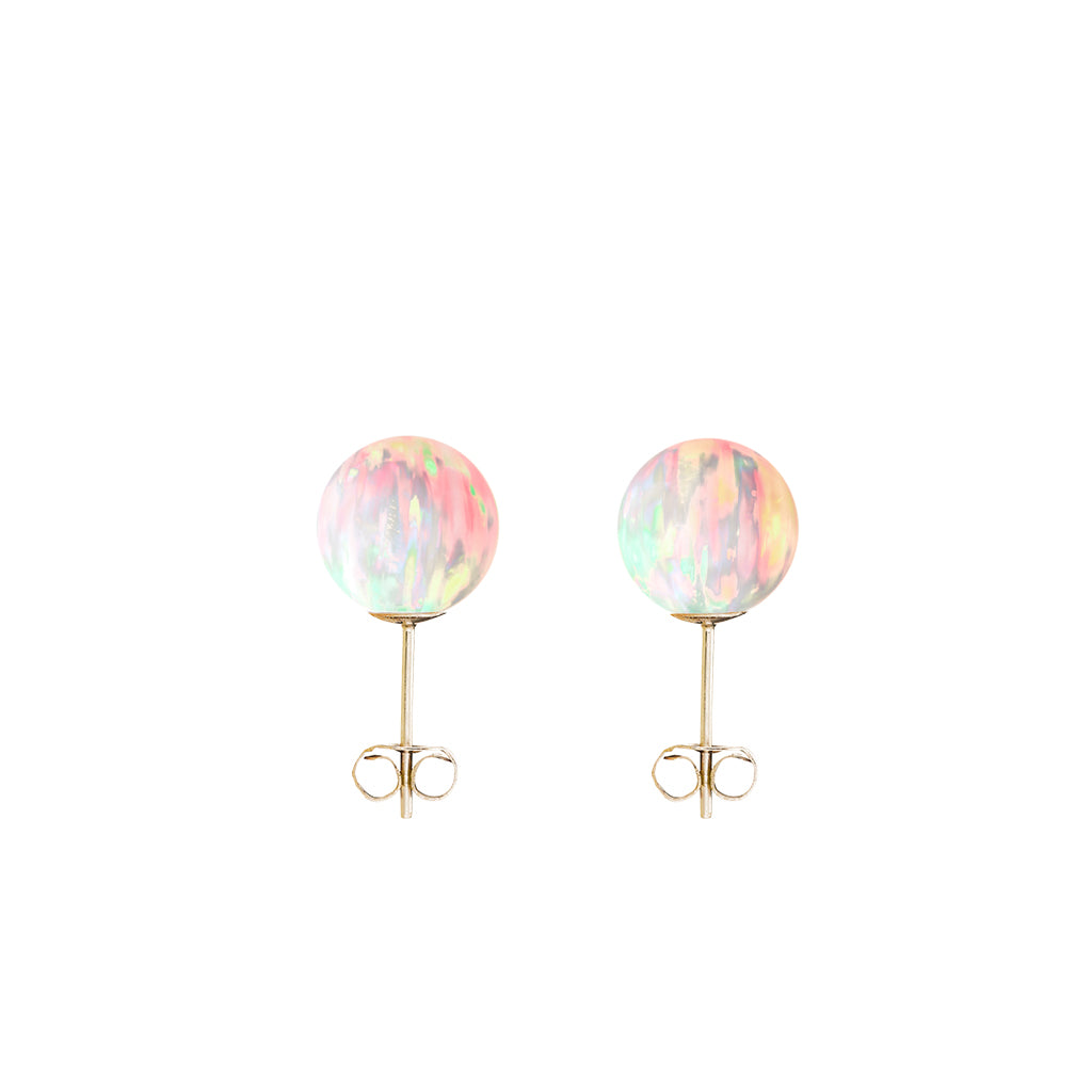 SUN OPAL STUD EARRINGS
