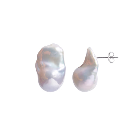 NEBULA WHITE PEARL EARRINGS