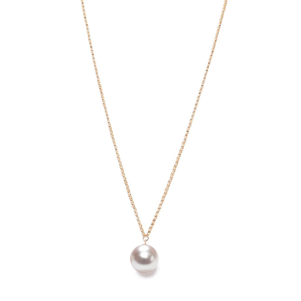 ORA Pearls Sterling Silver XXL White Pearl Pendant Necklace rBbjMIX