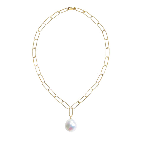 AURELIA BAROQUE PEARL CHAIN NECKLACE