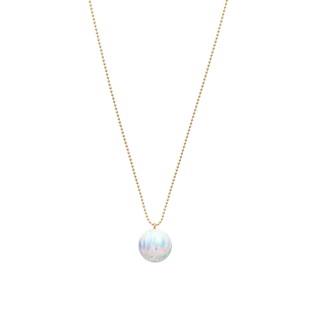 ORBIS ICE OPAL BALL CHAIN PENDANT