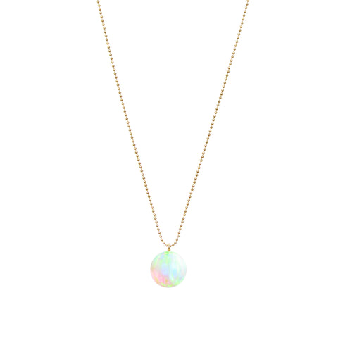 ORBIS SEA OPAL BALL CHAIN PENDANT
