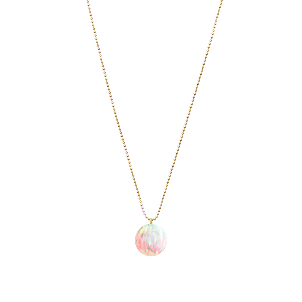ORBIS SUN OPAL BALL CHAIN PENDANT