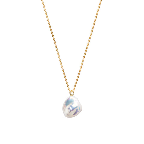 MERMAIA KESHI PEARL FINE CHAIN NECKLACE