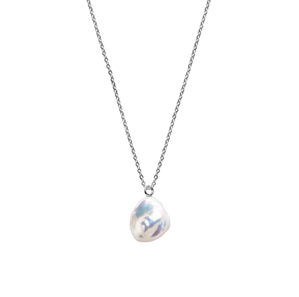 MERMAID KESHI PEARL FINE CHAIN NECKLACE