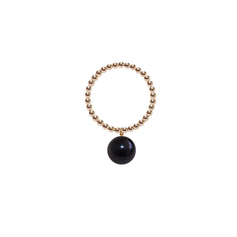 ORB RING - BLACK PEARL