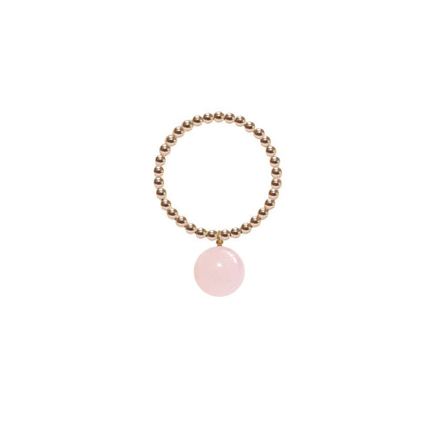 ORB RING - POWDER PINK JADE