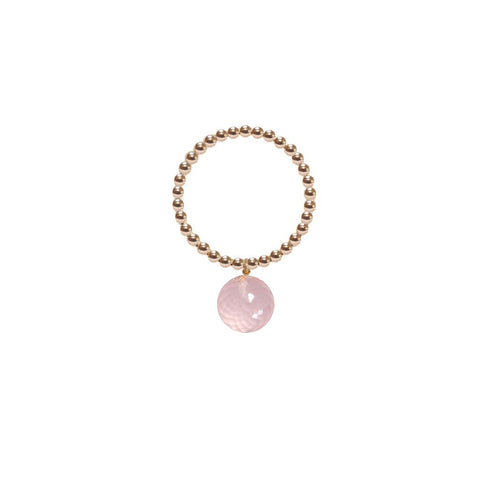 ORB RING - ROSE QUARTZ