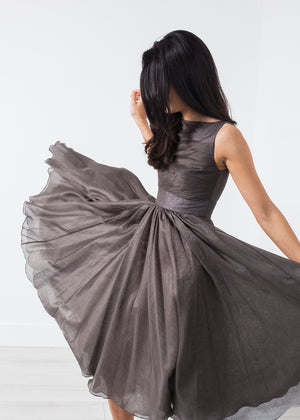 Voile Dress in Grey Pearl