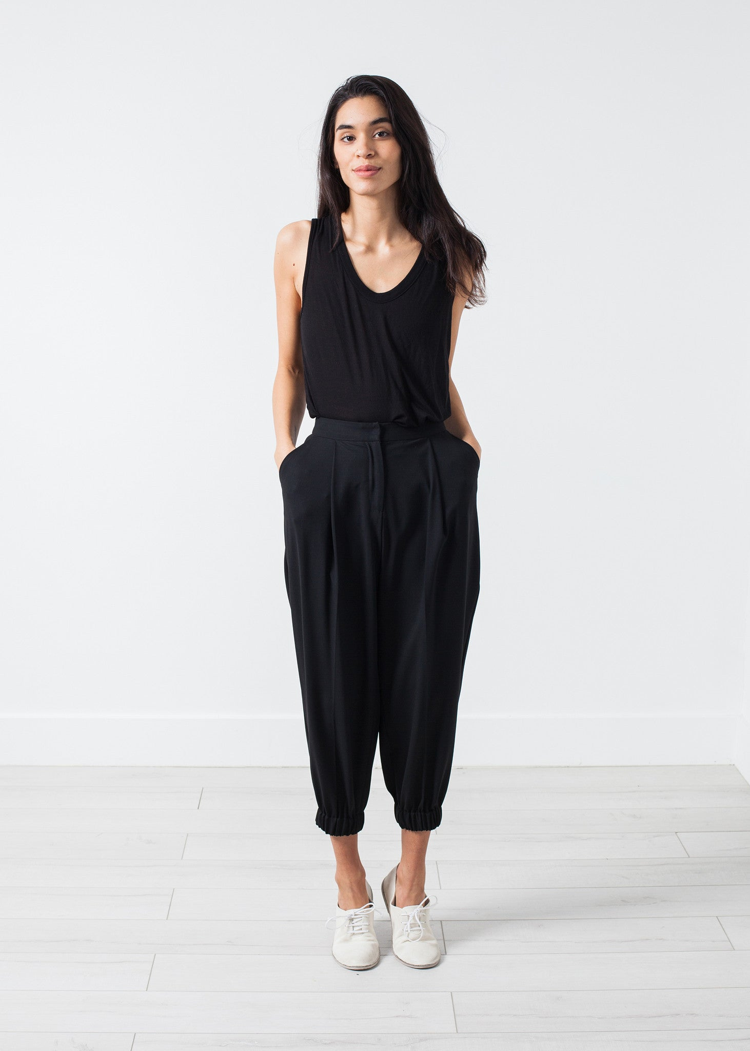 Fancy Wool Pant in Black