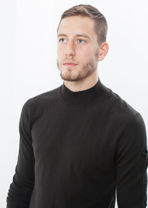 Merino Knit Turtleneck in Cavern